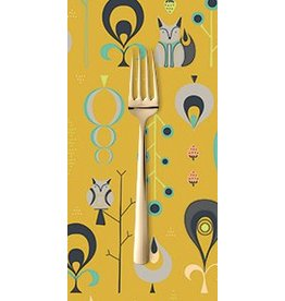 PD's Andover Collection Forest Fables, Hide and Seek in Mustard, Dinner Napkins