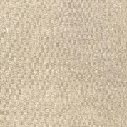 Robert Kaufman Double Gauze, Chambray Dobby in Linen, Fabric Half-Yards