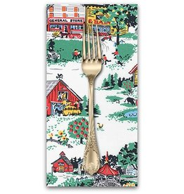 PD's Robert Kaufman Collection Morningside Farm, Farm Life in Vintage, Dinner Napkin