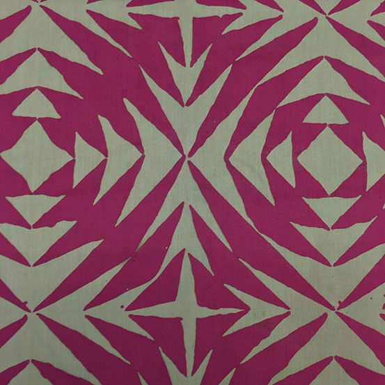 Alison Glass Handcrafted Patchwork, Pineapple in Thistle, Fabric Half-Yards