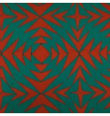 Alison Glass Handcrafted Patchwork, Pineapple in Chilli Pepper, Fabric Half-Yards