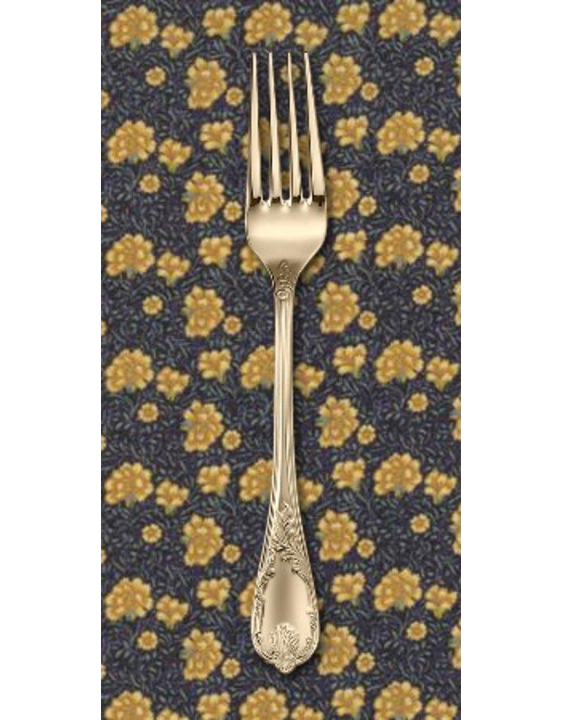 PD's Barbara Brackman Collection Morris Earthly Paradise, Carnation 1880 in Dark Blue, Dinner Napkin