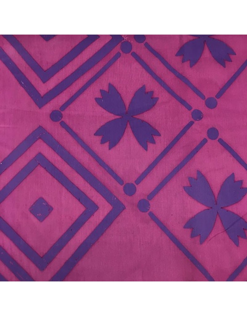 Alison Glass Handcrafted Patchwork, Tile in Foxglove, Fabric Half-Yards