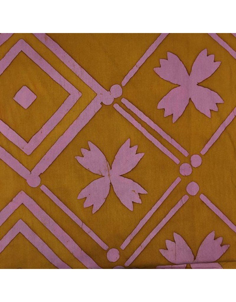Alison Glass Handcrafted Patchwork, Tile in Goldenrod, Fabric Half-Yards