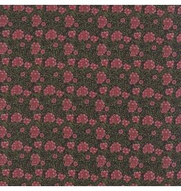 William Morris & Co. Morris Earthly Paradise, Carnation 1880 in Black, Fabric Half-Yards