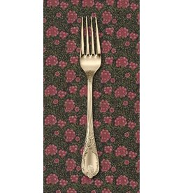 PD's Barbara Brackman Collection Morris Earthly Paradise, Carnation 1880 in Black, Dinner Napkin