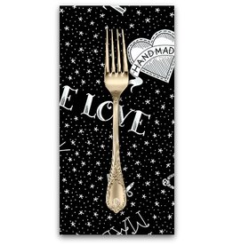PD's Libs Elliott Collection True Love, Flash in Black, Dinner Napkin