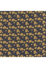 Barbara Brackman Morris Earthly Paradise, Carnation 1880 in Dark Blue, Fabric Half-Yards