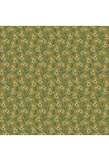 Andover Fabrics Provencale Small Flowers in Green, Fabric Half-Yards