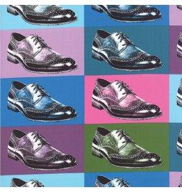 Luke Haynes Dapper Prints, A Good Pairing in Prisimatic, Fabric Half-Yards