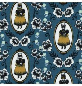 Sarah Watts Boo!, Ophelia in Blue, Fabric Half-Yards