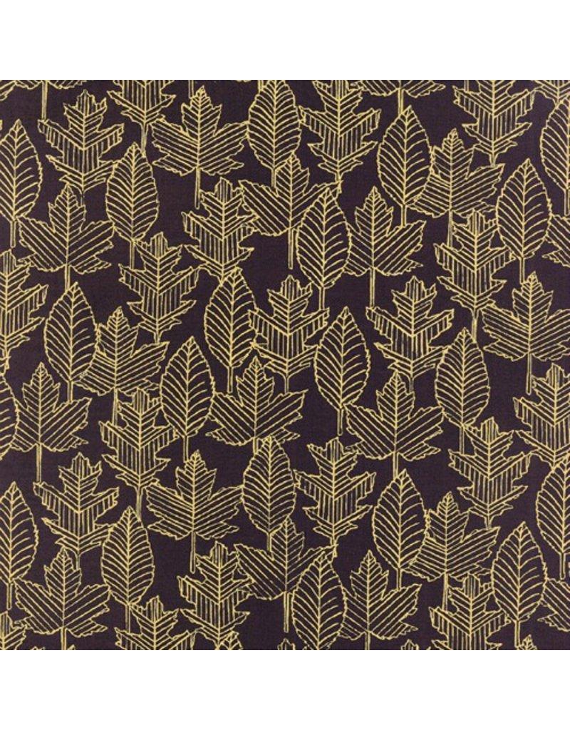 Moda Welcome Fall, Leaf Lines in Black, Fabric Half-Yards