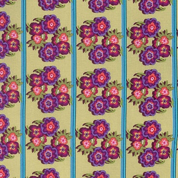 Nel Whatmore Boho Babe Border in Caribbean, Fabric Half-Yards