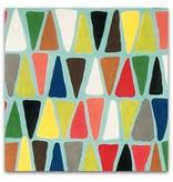 Alexander Henry Fabrics Folklorico, Triangulo in Turquoise, Fabric Half-Yards