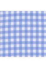 "Cotton + Steel Checkers Woven 1/2"" Gingham in Sky, Fabric Half-Yards"