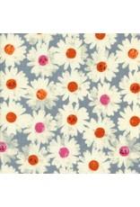 Cotton + Steel Double Gauze, Trinket, Happy Garden in Frosty, Fabric Half-Yards