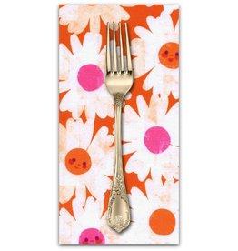 PD's Melody Miller Collection Trinket, Happy Garden in Orange, Dinner Napkin