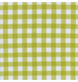 "Cotton + Steel Checkers Woven 1/2"" Gingham in Citron, Fabric Half-Yards"
