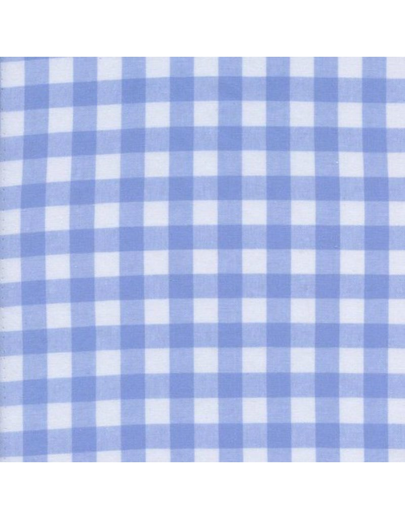 "PD's Cotton + Steel Collection Checkers Woven 1/2"" Gingham in Sky, Dinner Napkin"