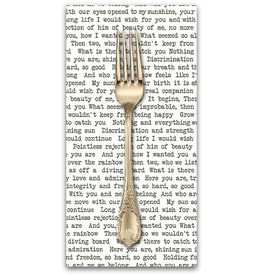 PD's Alison Glass Collection Sun Print, Text in Black, Dinner Napkin