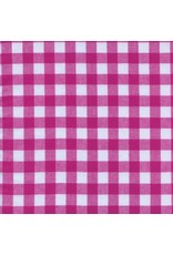 "PD's Cotton + Steel Collection Checkers Woven 1/2"" Gingham in Berry, Dinner Napkin"