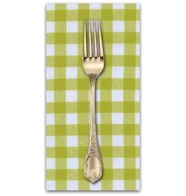"PD's Cotton + Steel Collection Checkers Woven 1/2"" Gingham in Citron, Dinner Napkin"