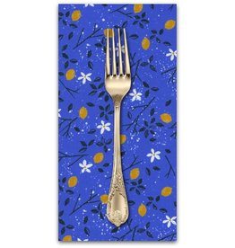 PD's Sarah Watts Collection From Porto with Love, Lemon Trees in Blue, Dinner Napkin