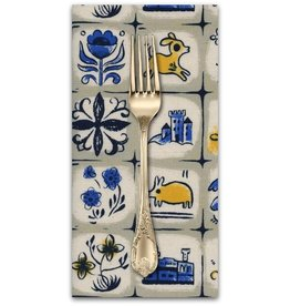 PD's Sarah Watts Collection From Porto with Love, Pastry Shop in Natural, Dinner Napkin
