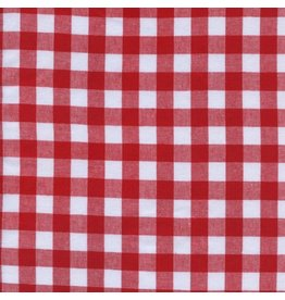 "Cotton + Steel Checkers Woven 1/2"" Gingham in Santa, Fabric Half-Yards"