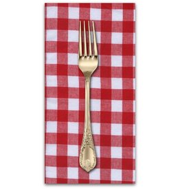 "PD's Cotton + Steel Collection Checkers Woven 1/2"" Gingham in Santa, Dinner Napkin"