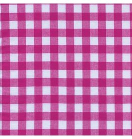 "Cotton + Steel Checkers Woven 1/2"" Gingham in Berry, Fabric Half-Yards"