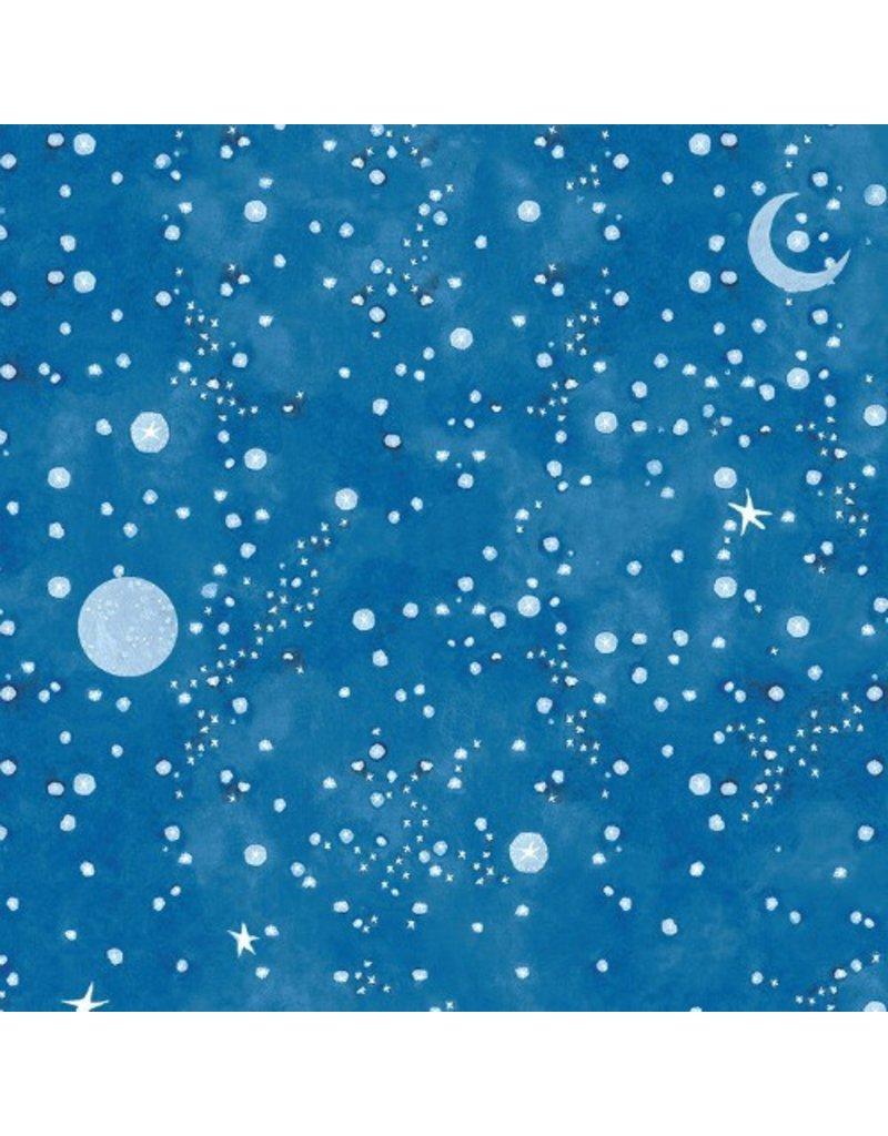 Cori Dantini Spooky Town, Hallows Eve in Blue, Fabric Half-Yards