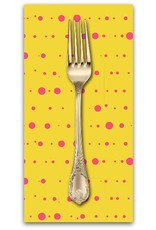 PD's Alison Glass Collection Sun Print, Ink in Yellow, Dinner Napkin
