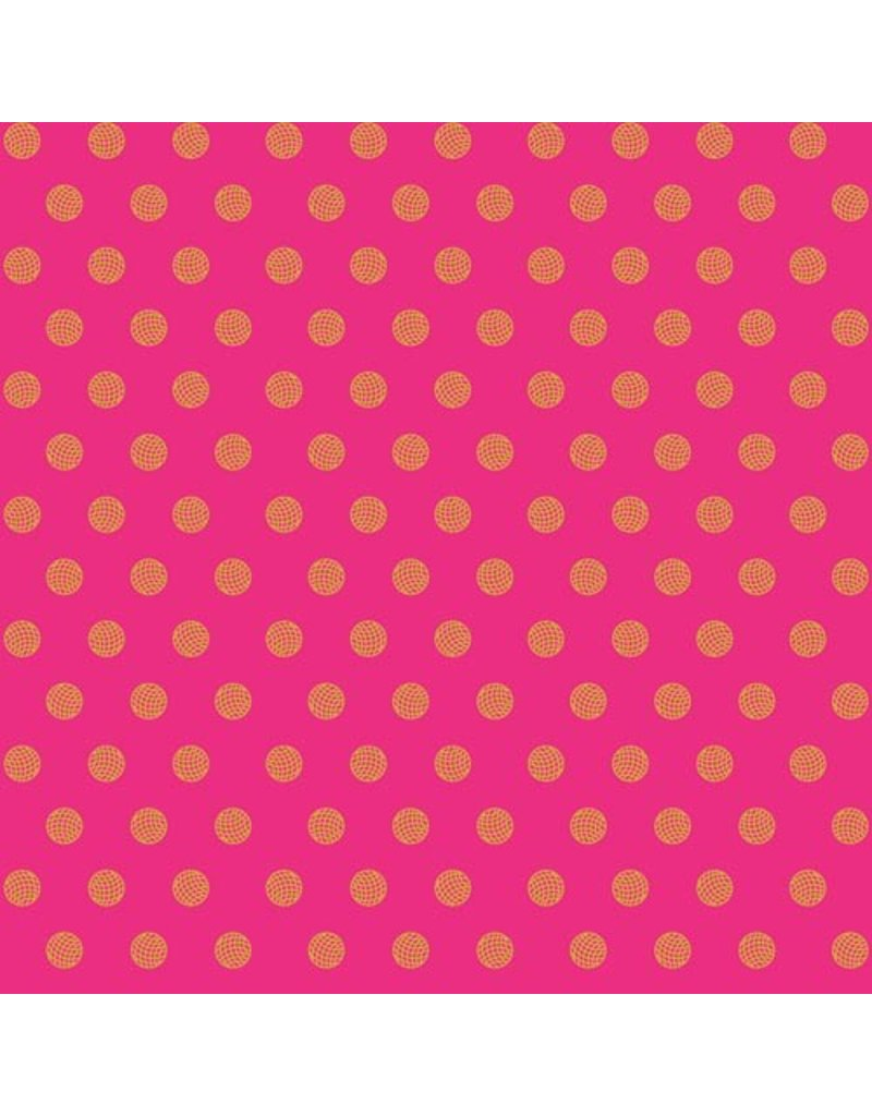 PD's Alison Glass Collection Sun Print, Sphere in Ruby, Dinner Napkin