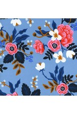 Rifle Paper Co. Rayon, Les Fleurs Birch Floral in Periwinkler, Fabric Half-Yards