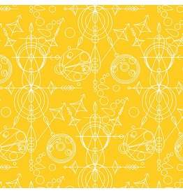 Alison Glass Sun Print, Mercury in Yellow, Fabric Half-Yards