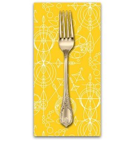 PD's Alison Glass Collection Sun Print, Mercury in Yellow, Dinner Napkin