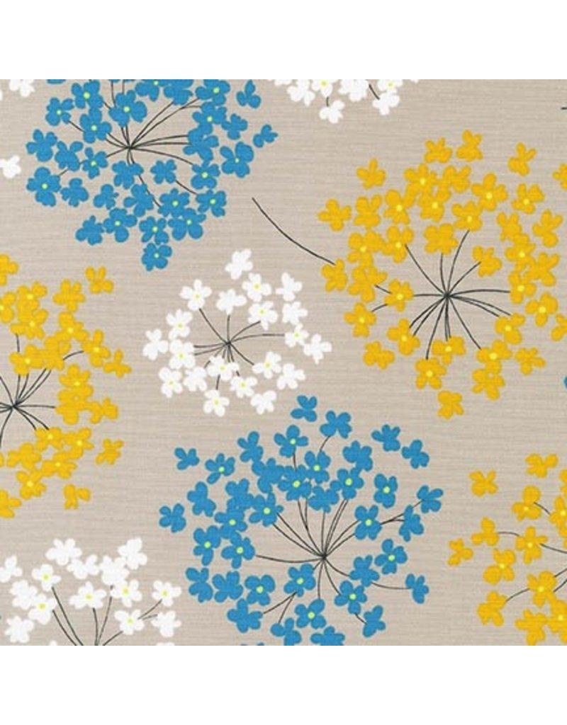 Robert Kaufman Canvas, Sevenberry Blossoms in Summer, Fabric Half-Yards
