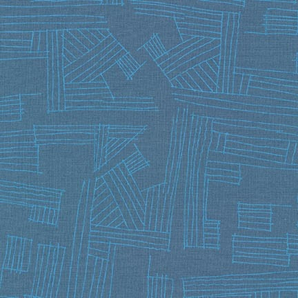 Carolyn Friedlander Linen, Euclid Essex, Hustle in Cadet, Fabric Half-Yards