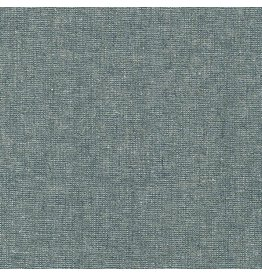 Robert Kaufman Linen Essex Yarn Dyed Metallic in Storm, Fabric Half-Yards