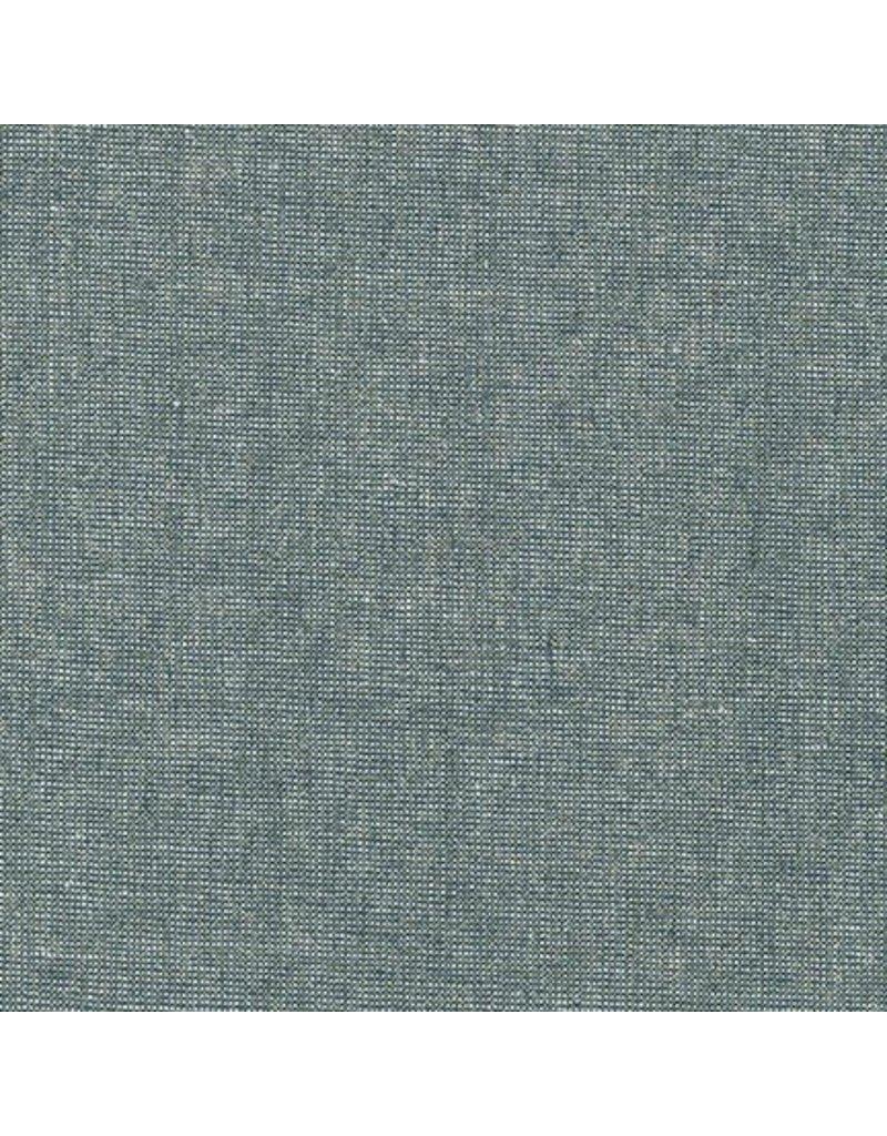 Robert Kaufman Linen Essex Yarn Dyed Metallic in Storm, Fabric Half-Yards