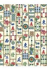 Timeless Treasures Mahjong Tiles in Ivory, Fabric Half-Yards