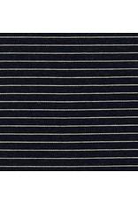 Robert Kaufman Indigo Knit, Wide Stripes in Indigo, Fabric Half-Yards