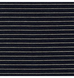 Robert Kaufman Indigo Knit, Wide Stripes in Indigo, Fabric Half-Yards