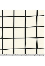 Robert Kaufman Canvas, Sevenberry Checker in White, Fabric Half-Yards