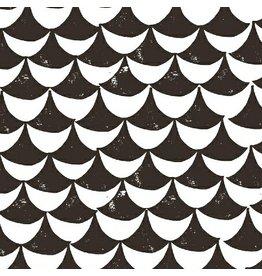 Lotta Jansdotter Hemma, Orancy in Gray, Fabric Half-Yards