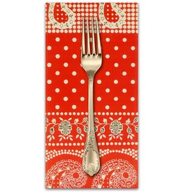 PD's Alexander Henry Collection Santa Fe, Durango Bandana in Red, Dinner Napkin