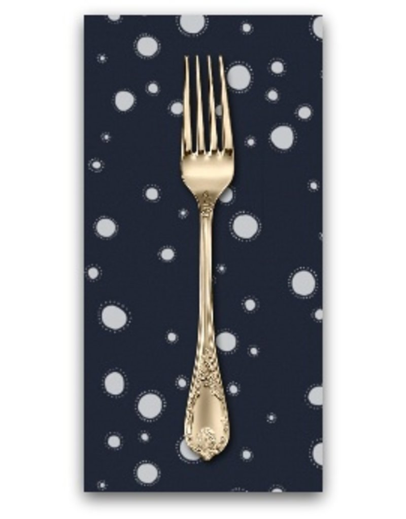 PD's Rae Ritchie Collection Trail Mix, Moon Garden Glowing Dots in Navy, Dinner Napkin