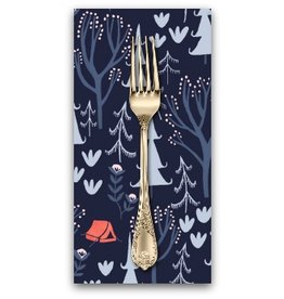 PD's Rae Ritchie Collection Trail Mix, Tents in Navy, Dinner Napkin