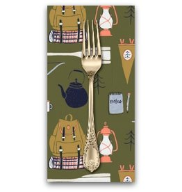 PD's Rae Ritchie Collection Trail Mix, Camping Supplies in Forest, Dinner Napkin
